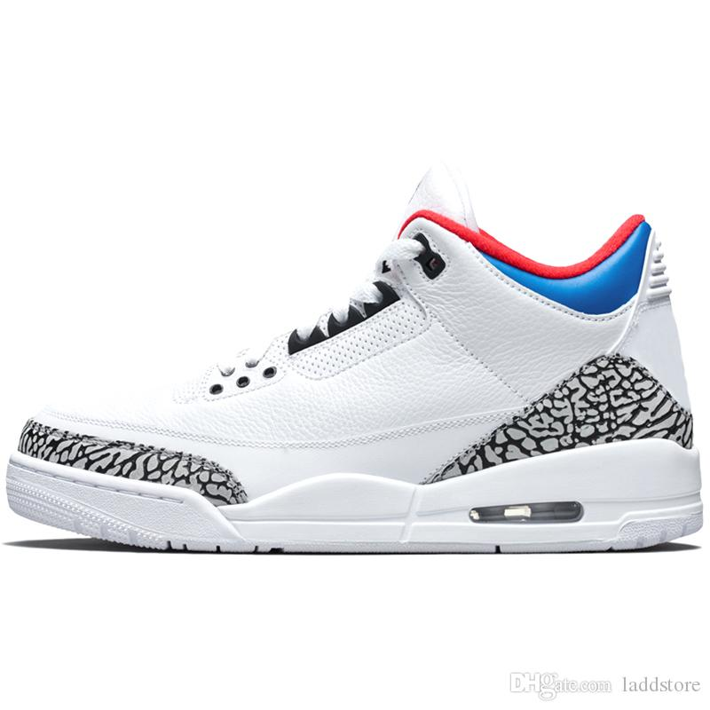 buy popular 59891 1f431 Black Cement 3s Tinker 3 III Men Basketball Shoes JTH Grateful wolf grey  Katrina charity game 3 Chlorophyll Sports Man Sneakers