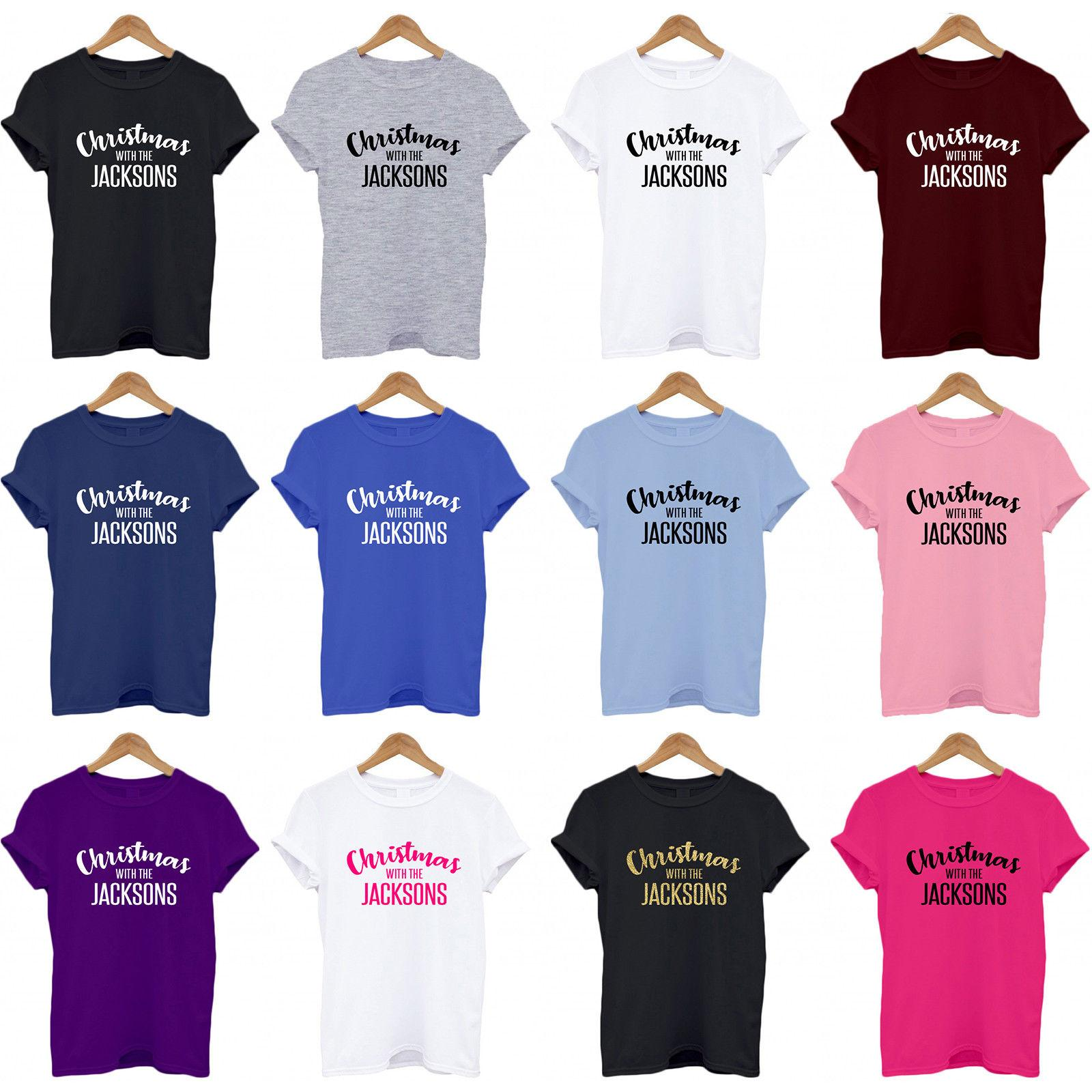 941055c4 CHRISTMAS WITH THE..., Personalised Family Name, Matching, Funny, T Shirt,  Top Tees Custom Jersey T Shirt Awesome T Shirt Clever T Shirts From  Pinkcup, ...