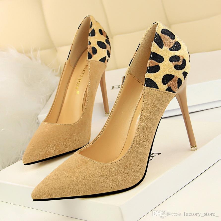 0ddaddda157 Compre Zapatos De Leopardo Mujer Tacones Altos Zapatos De Lujo Diseñadores  De Mujeres Tacones De Marca Tacones Sexy Zapatos Fetiche Tacones Altos  Mujer ...