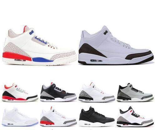 on sale 3403a b103d 2019 Mens 3 III Basketball Shoes New Mocha Black Cement Katrina Sport Blue  Top 3s Designer Shoes Sport sneakers US 7-13