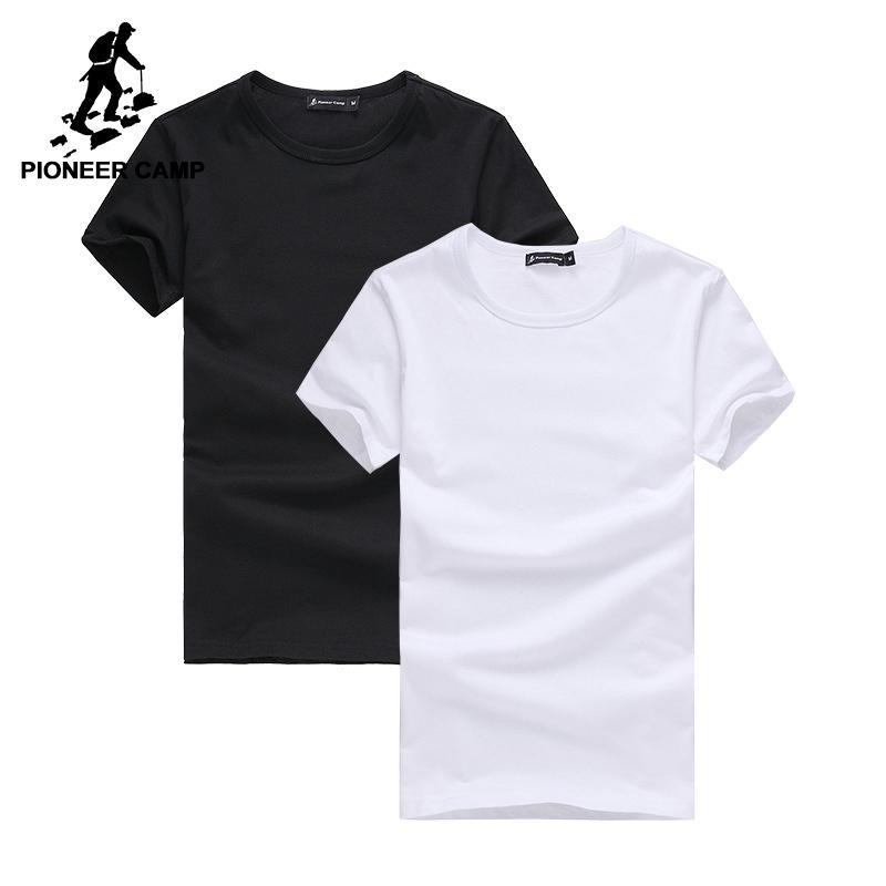 ffc38a7aed Compre Pioneer Camp Paquete De 2 Que Promociona La Camiseta De Los Hombres  De La Marca De Ropa De Manga Corta Camiseta Masculina Camiseta Casual Moda  Para ...