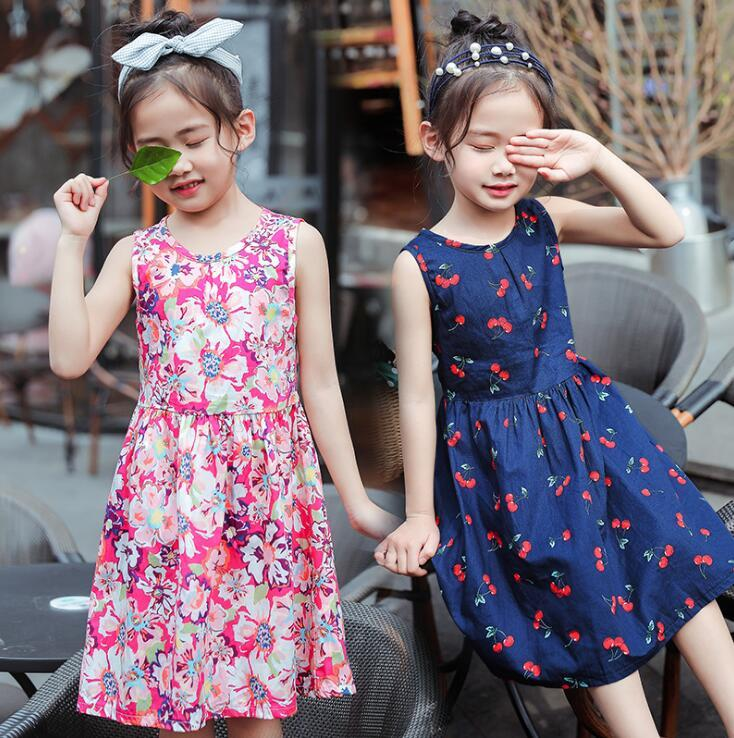 535b552876c9 2019 For 4 6 8 10 Years Kids Girls Summer Dress Toddler Girls Sleeveless  Cotton Dresses Children Clothes Printed Bohemia Sundress From Localking, ...