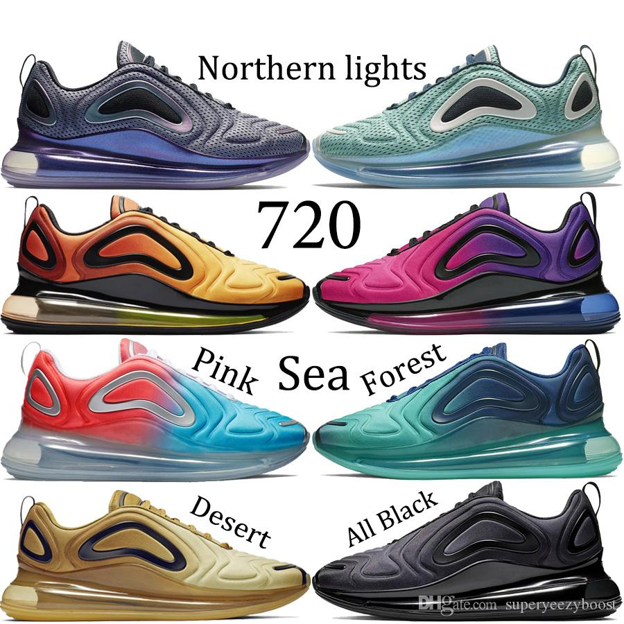 196302a3b Northern Lights 720 Running Shoes Mens Sea Forest Desert 720 Designer Sneakers  Womens Pink Sea Sunrise 2019 New Air Trainers US5.5 11 Running Shoes For ...