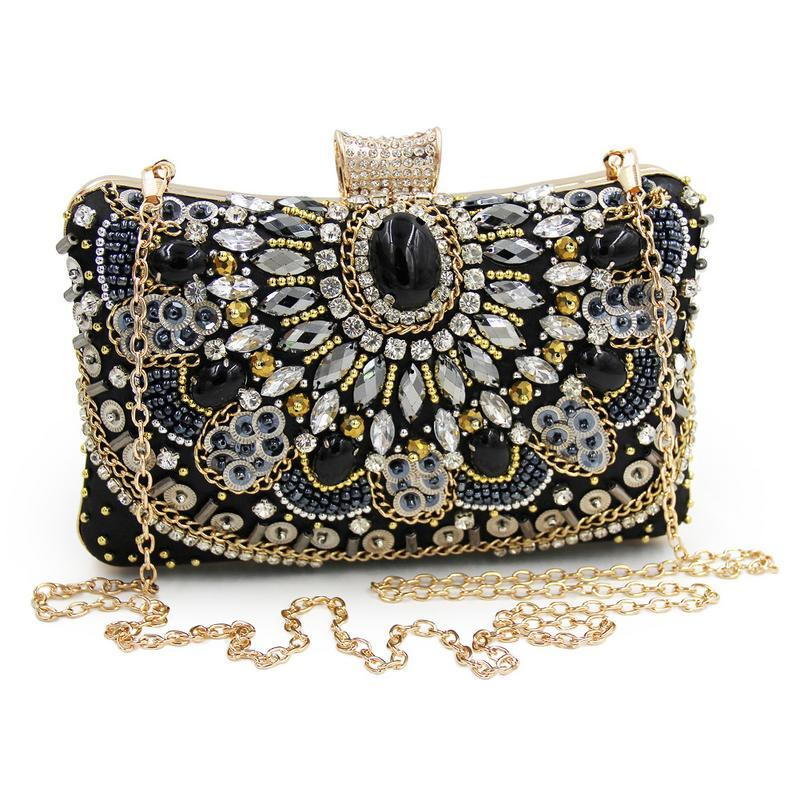 fa84f9bf23bf Bling Rhinestones Evening Clutches Evening Shoulder Chains Bag For Women  Ladies Female Clutch Chain Hand Crossbody Bags Handbag Messenger Bags For  Women ...
