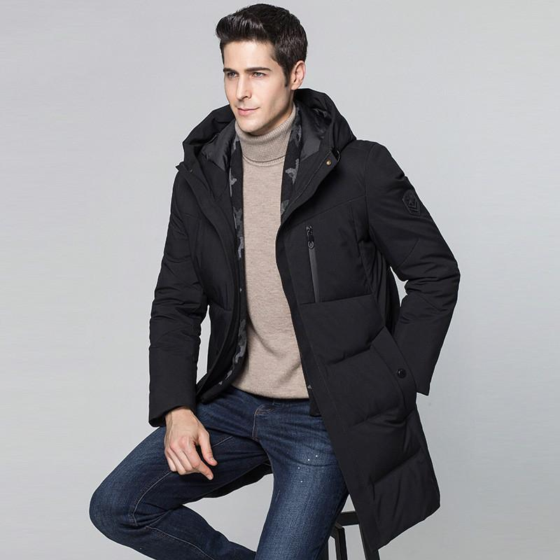 5adc14c25d 2019 Mens Clothing Nice Winter Jacket Men Clothes White Duck Down Jacket Men  Parkas Korean Long Hooded Thick Down Coat Parka T566 From Losangelesd
