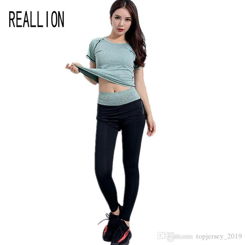 56aeded854739 2019 Women Yoga Set For Running T Shirt Fitness Bra Sports Wear Gym  Clothing Women Workout Set Sports Suit Tracksuit  74387 From  Topjersey 2019