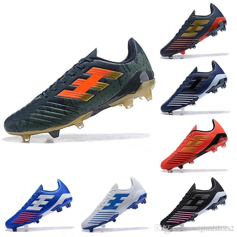 6362494016e 2019 Red Gold Blue Stripes 2019 Men Women Football Boots Utility Man Boys  Predator Soccer Cleats Shoes Futsal Chuteiras De Futebol Sneakers From ...