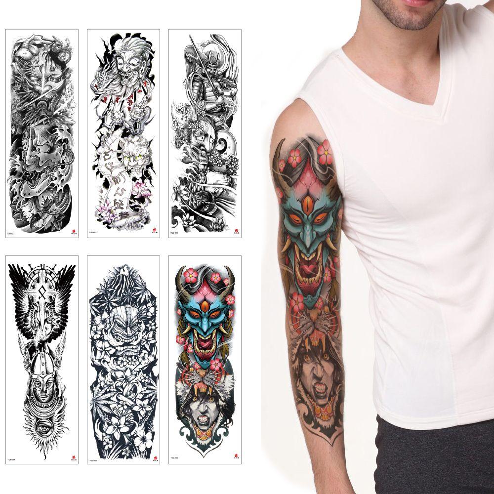 Big Large Full Arm Devil Series Waterproof Temporary Body Tattoo