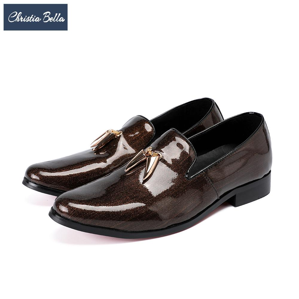Christia Bella Fashion Italian Tassel Men Loafers Genuine Leather