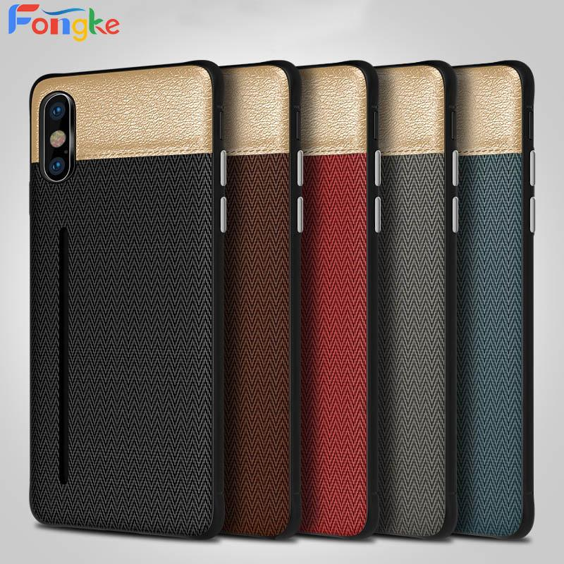 Wallet Card Holder For iPhone 6 6s 7 8 Plus TPU+PU Leather Cell Phone Cases For iphone X XR Xs Max Back Cover