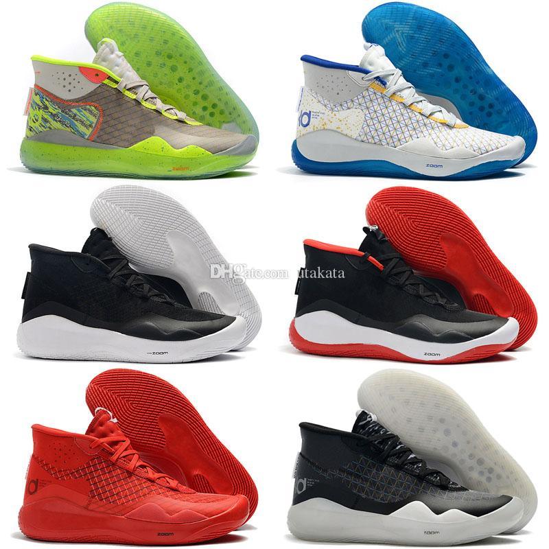 size 40 a4898 ec4a6 Acheter 2019 Hot Mvp Kevin Durant KD 12 Anniversary University 12 S XII  Oreo Hommes Chaussures De Basketball USA Elite KD12 Sport Baskets Taille 40  46 De ...