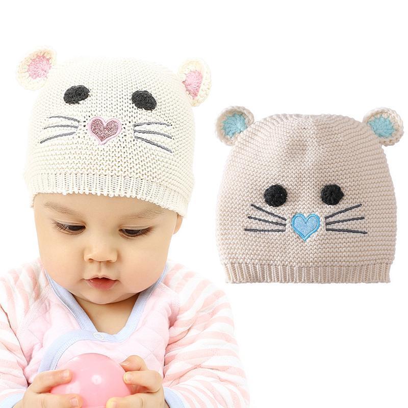 5f88540bc88 Children Hat Toddler Kids Baby Warm Winter Hand Knitted Cap Pom Hat ...