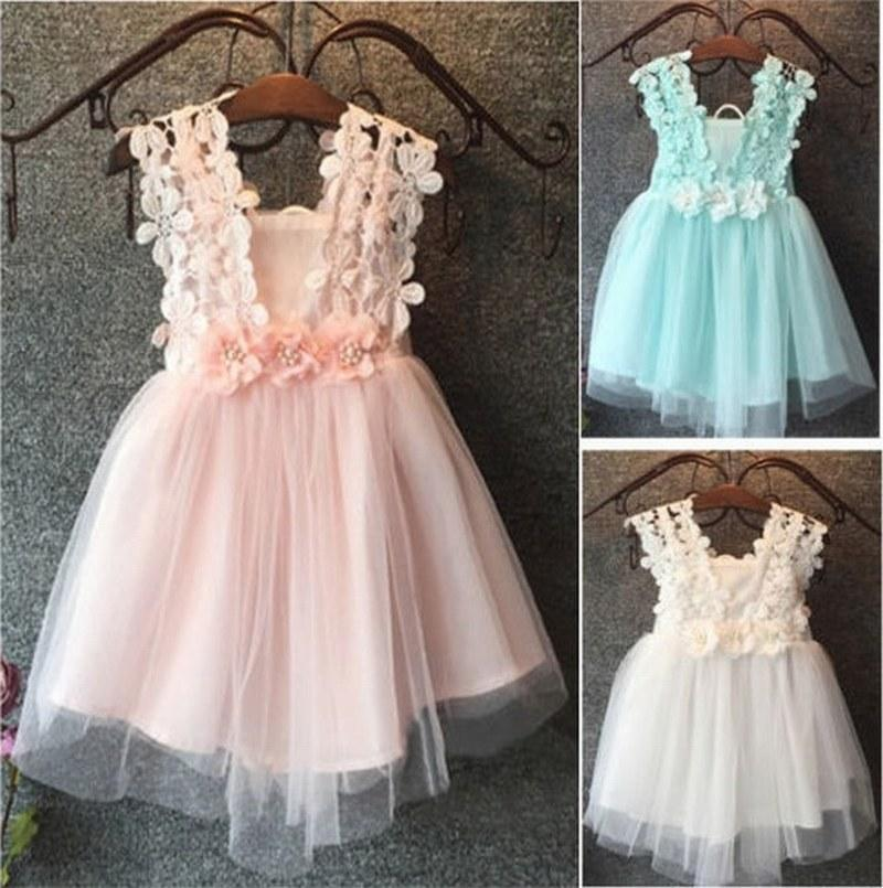 19575e14cc8c1 Baby Flower Girl Dress Princess Lace Tulle Tutu Backless Gown Formal Party  Dress White And Red Flower Girl Dresses Baby Girl Flower Girl Dresses From  ...