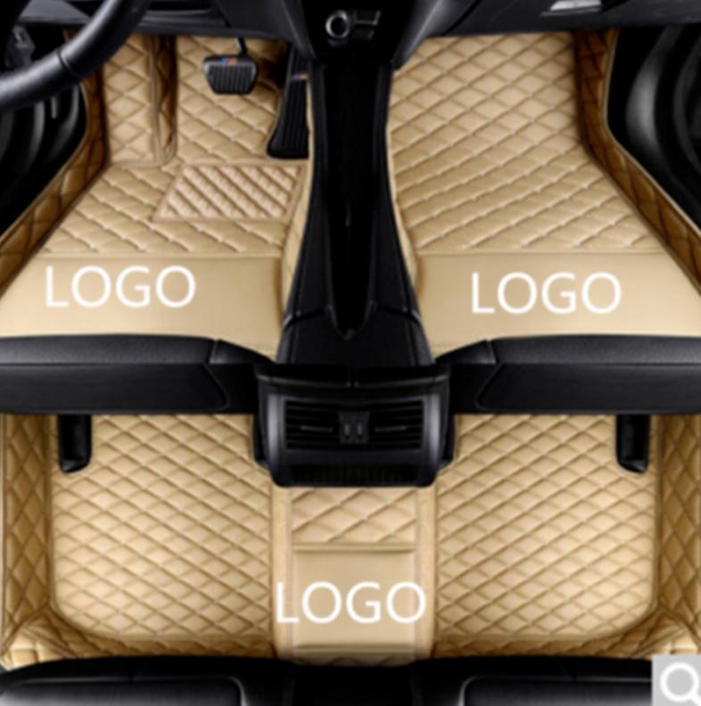 Mercedes-Benz GLC 2017-2019 car anti-slip mat luxury surrounded by waterproof leather wear-resistant car floor mat with logo