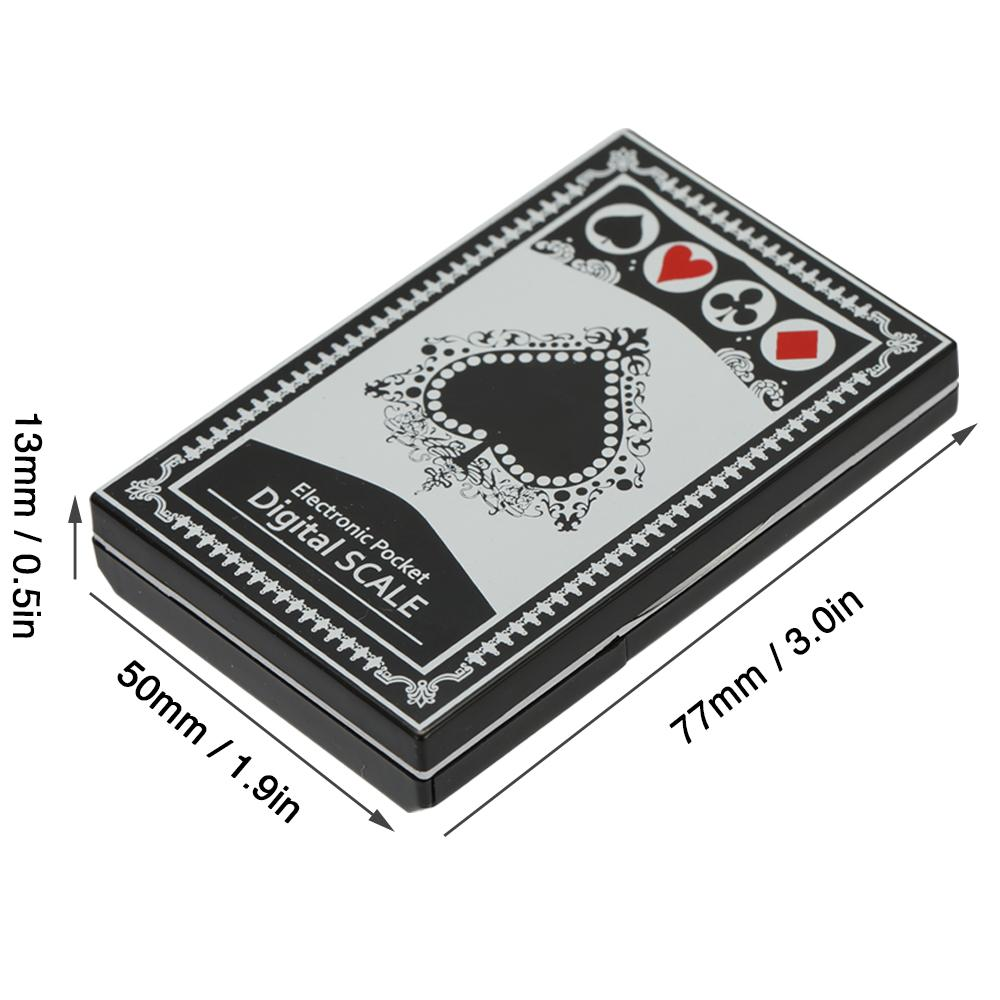 Mini Taşınabilir Hassas Dijital Terazi Elektronik Doğru Dijital Ekran Poker Tipi Cep Çay Altın Takı Ölçeği