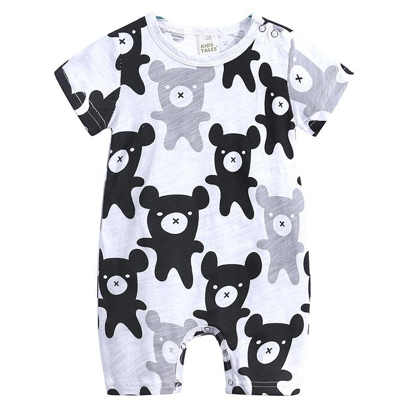 91b324483 2019 2019 Summer New Style Short Sleeve Baby Boys Girls Romper ...
