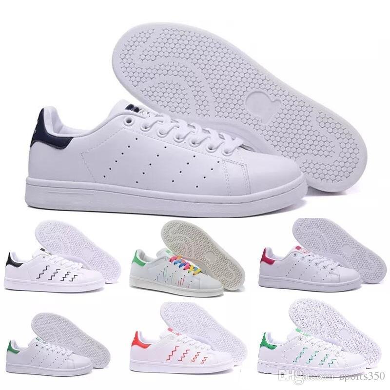 newest edcf5 63254 Hot 2019 Moda Para Hombre Zapatos Casuales Superstar Smith Stan Mujer  Zapatos Planos Mujer Zapatillas Deportivas Mujer Amantes Sapatos Femininos  Para ...
