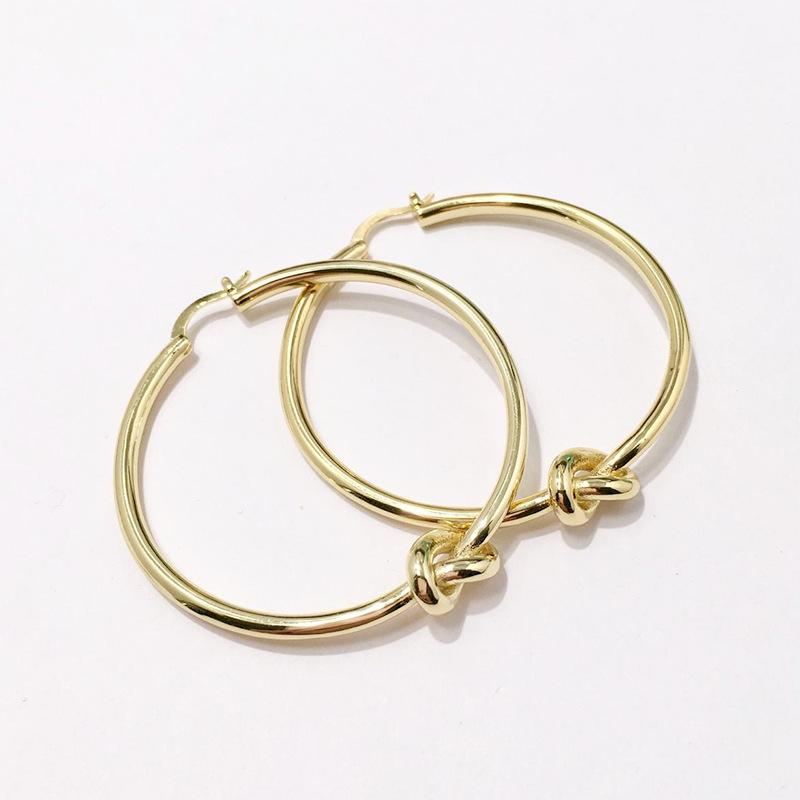 c65b5b9d694e7 Round Knot Hoop Earrings Personality Circle Ear Ring Jewelry Designer Big  Circle Simple Dangle Earrings for Women Party Jewelry DHL