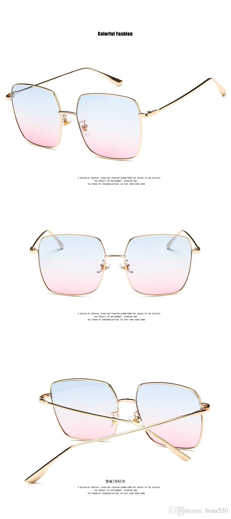 daa92665abf Web Celebrity 2018 Square Metal Sunglasses Fashion Polygonal Sunglasses  Trend Large Frame Thin Face Sunglasses Fashion Accessories Sunglasses  Online with ...