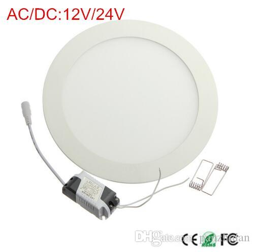AC / DC 12V 24V led downlight 3W 4W 6W 9W 12W 15W 25W led empotrable en el techo rejilla empotrable downlight panel redondo luz envío gratis