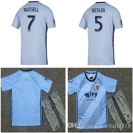 official photos 2fde9 c23c4 ADULT KITS 2019 2020 Sporting Kansas City home soccer jersey kit 19 20 MEN  BESLER RUSSELL ilie ZUSI SALLOI ZELALEM football shirts