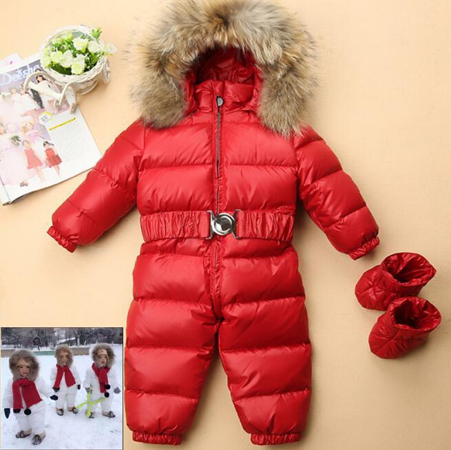 cheaper b6922 3bf5f Piumino in metallo Warmest Kids Piumino Baby Boy Snowsuit Ragazze Snowsuit  Bambini Toddler Snowsuit Caldo Cappotti per bambini Inverno bambino ...