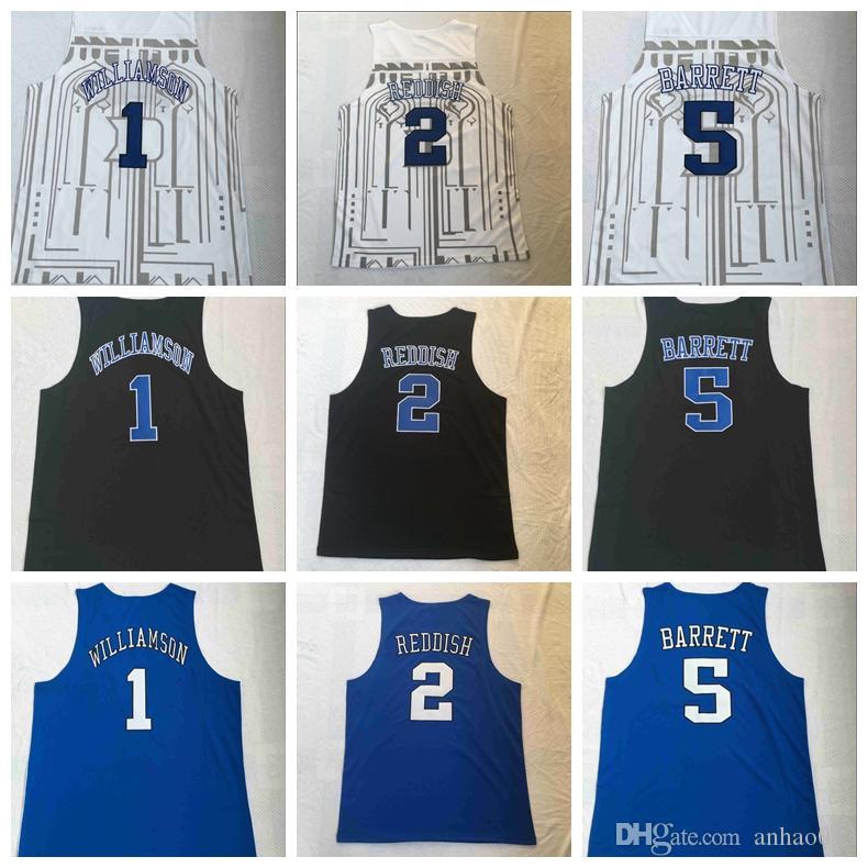 c5cc7d715faa 2019 2019 New Duke Blue Devils Zion Williamson Jersey Men S  1 NCAA 5 RJ  Barrett 2 Cam Reddish Bagley Black Royal White College Basketball From  Anhao013