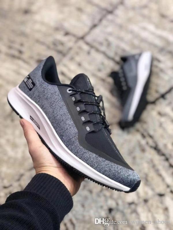 bebdd8d6f42 Compre Zapatos Para Hombre Para Mujer Air Zoom Pegasus Turbo 35 Rn Shld  Shoes Negro Gris Zapatillas Deportivas Moda 2019 Zapatillas De Marca A   49.9 Del ...