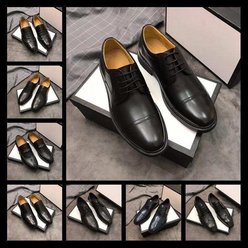 91f9d0324e Compre 2019 Homens Sapatos De Couro Genuíno Sapatos De Vestido Dos Homens  Italianos Vendas Esculpida Designer De Casamento Masculino Oxford Sapatos  Flats ...