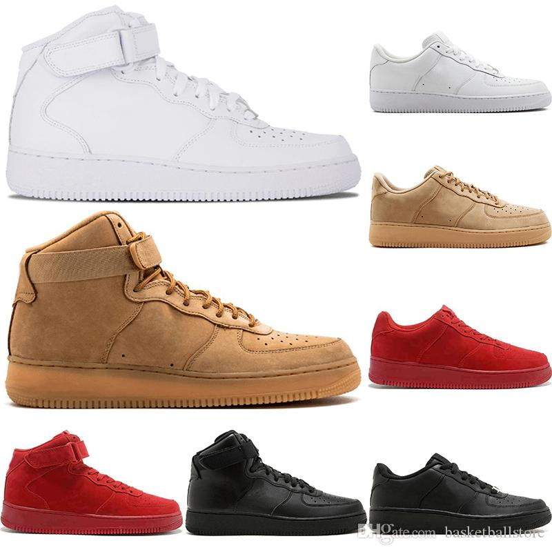 c6391a028 Scarpe Scarpe Italia Nike Air Force 1 Dunk Uomo Donna Flyline Sport  Skateboarding Scarpe High Low Cut Triple Bianco Nero Wheat Brown Outdoor  Sneaker Da ...