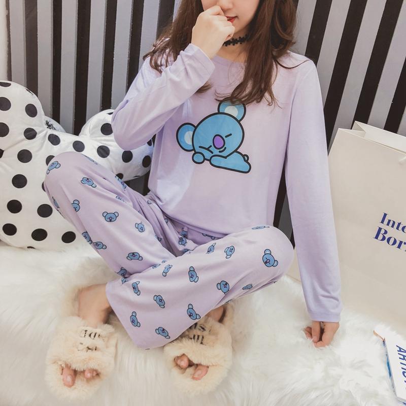 купить оптом Kpop Bts Bt21 пижамы набор женщин Bangtan мальчиков