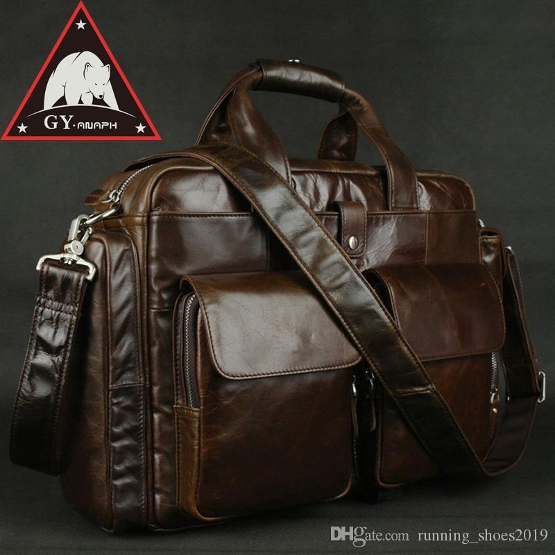 2f9d1be4e ANAPH Full Grain Leather Briefcases For Men, Attache 15.6