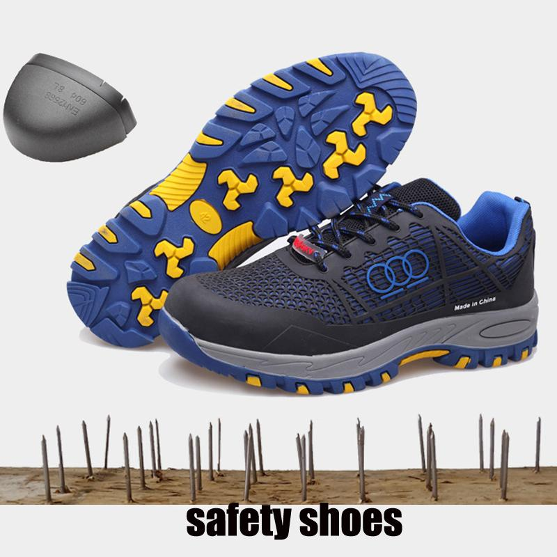 Mens Indestructible Safety Shoes For Men Footwear Work Shoes Steel Toe Sneakers Lightweight Breathable Outdoor Hiking Shoe Man Work & Safety Boots