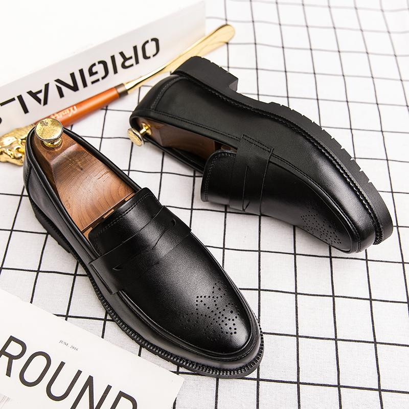 mens big size leisure business office formal dress soft leather shoes slip-on driving shoe gentleman loafers zapatos de hombre