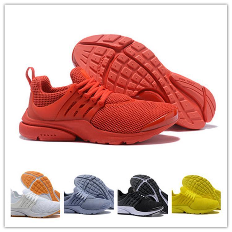 online retailer 9c7d9 eb648 Acheter Nike Air Max 2019 Chaude Presto 5 BR QS Breathe Casual Chaussures  Prestos Ultra Léger Hommes Femmes Triple Blanc Noir Jaune Rose Baskets  Baskets ...