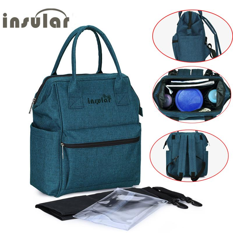 c6dcba5874 2019 Fashion Mummy Maternity Bag Multi Function Diaper Bag Backpack Nappy  Baby With Stroller Straps For Baby Care From Breenca, $52.58 | DHgate.Com