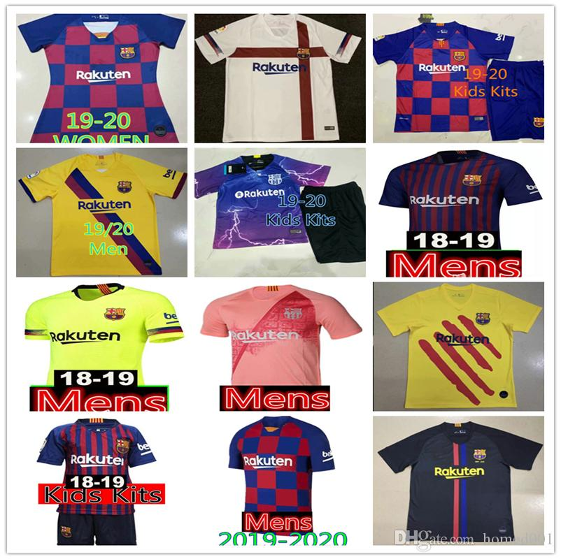 93f89b74f4 2019 2019 2020 Camiseta Barcelona MESSI Soccer Jersey Retro Suárez  A.INIESTA DEMBELE COUTINHO Soccer Shirts Barcelona Football WOMEN Man Kids  Kit From ...