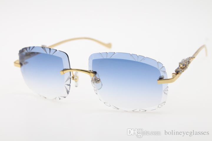 953ad9b1b Compre New Frete Grátis Sunglasses 8200762 Pantera Óptica Sem Aro Óculos De  Sol Menor Pedras Óculos Unisex Óculos De Sol Das Mulheres Óculos Vintage  Quadro ...