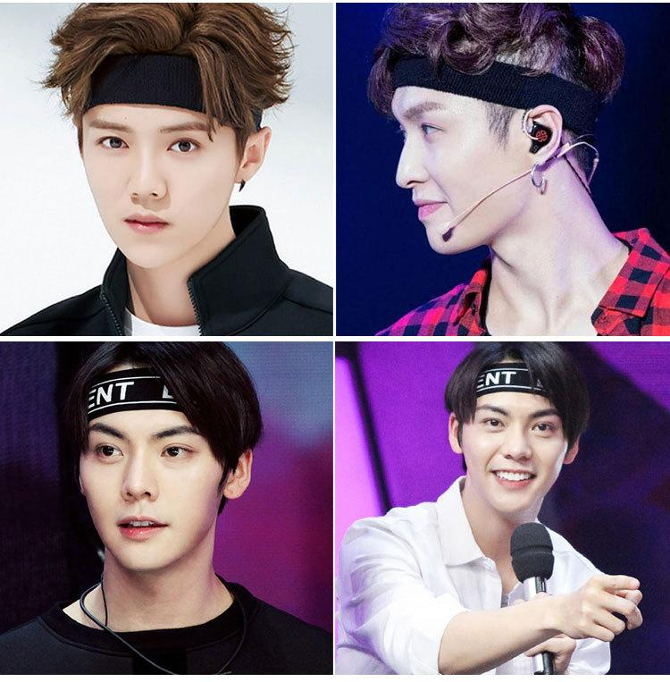 Sports headband Korean version of the summer short hair band men's tide wild sweat-absorbent headscarf Korea Harajuku hip-hop street hipster