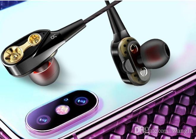 vendita all'ingrosso in-ear stereo auricolare bianco / nero / colore rosso 3.5mm Cuffia Cuffia con il Mic e remoti per Samsung Mobile Phone Android Phone DHL