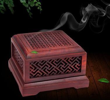 Solid wood incense burner Natural wooden dish incense burner agarwood  sandalwood incense burner mahogany box