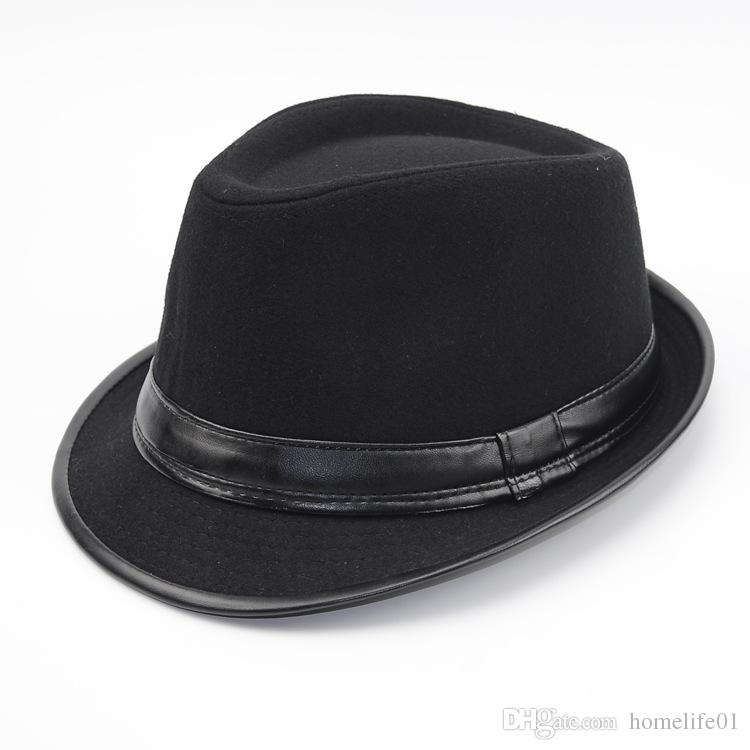 2019 Autumn And Winter New British Men S Leather Hat Mid Aged Old