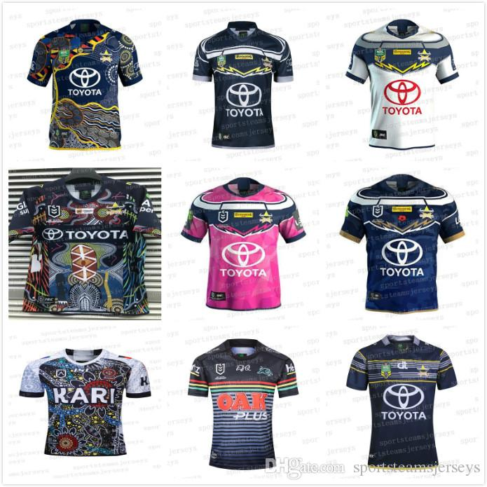 official photos 56590 4b20b 2019 20 RUGBY JERSEY Rugby League Blue Cowboys souvenir edition Pink Black  Indigenous camouflage leopard North Queensland Cowboys Jerseys