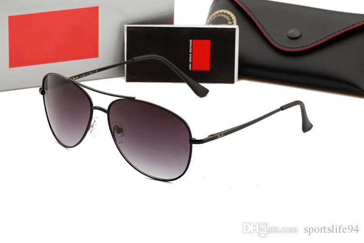 e370287126947 Compre Com Caixa RAYBAN Moda Óculos De Sol Óculos De Sol Dos Homens ...