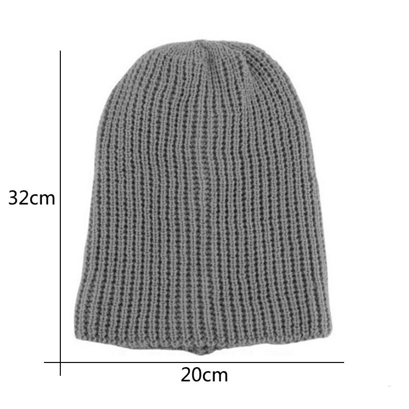Wholesale-Fashion Unisex Chic Men Women Warm Winter Knit Beanie Skull Slouchy Oversize Hiphop Cap Hat