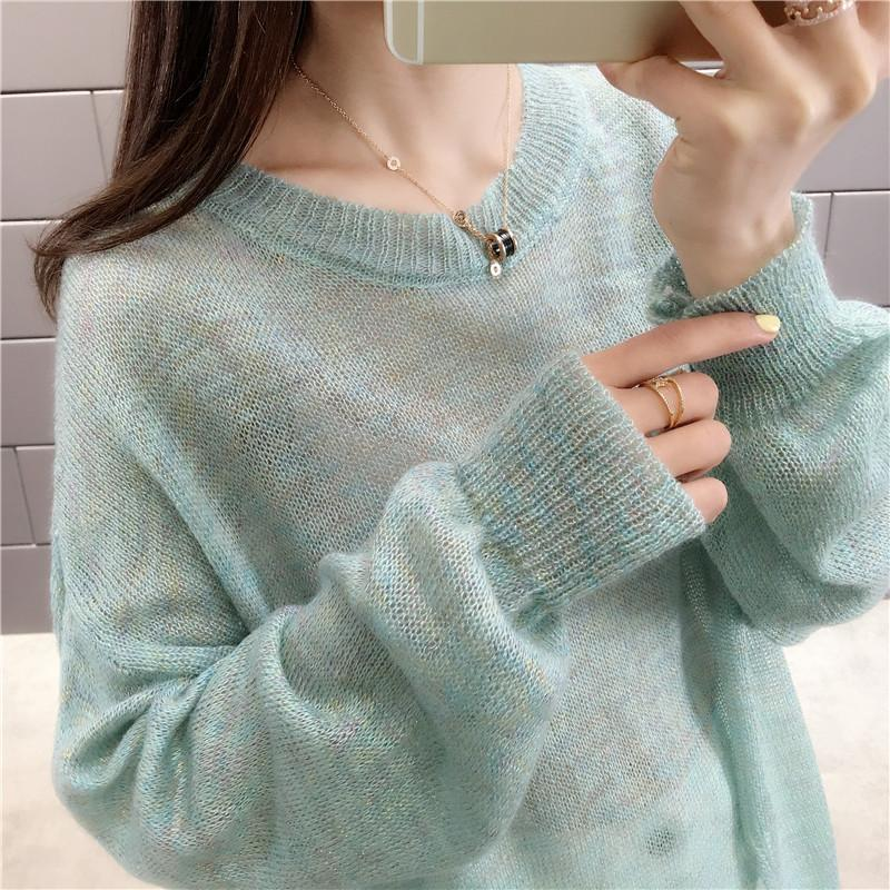 10745 Actual Shot of the New Kind of Knitted Sweaters in the Spring 2019  Korean Edition 35