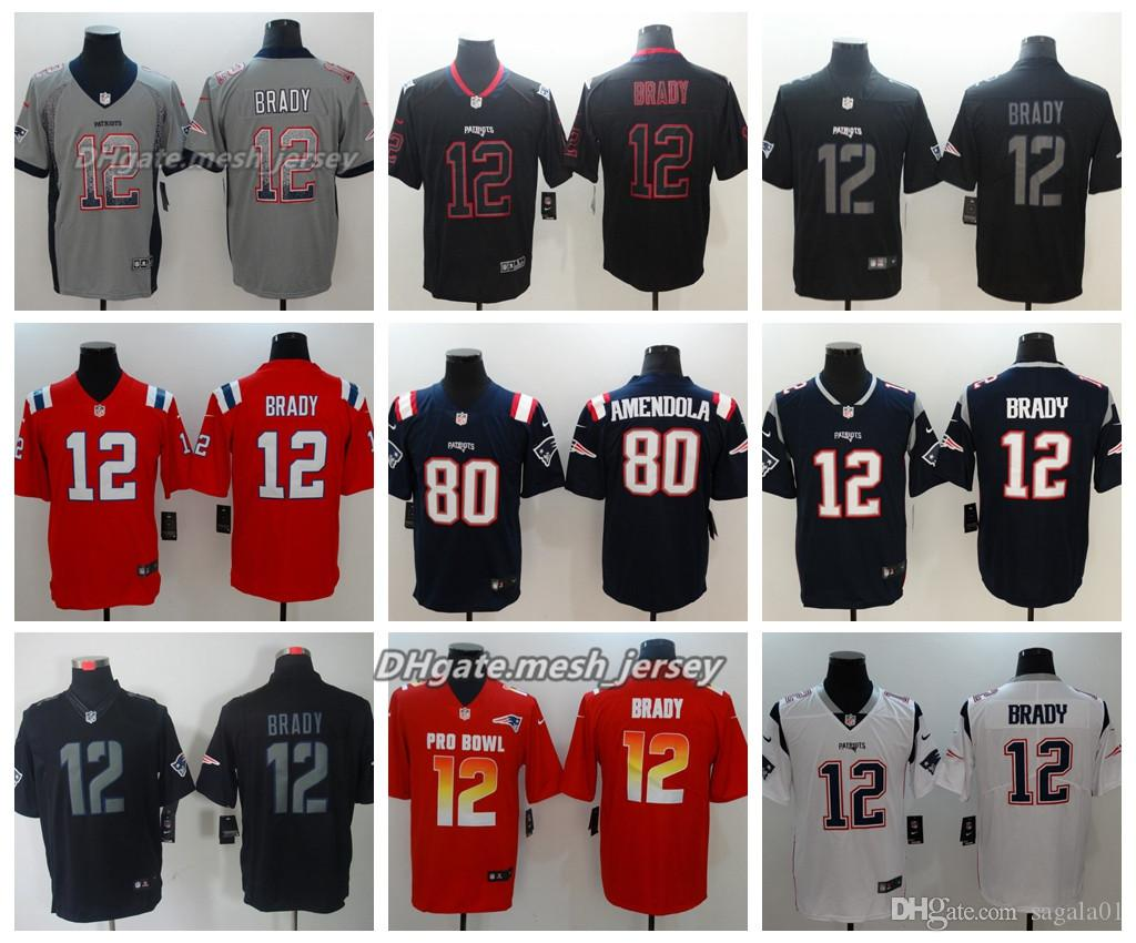 f62985099 ... discount code for 2019 men new jersey patriots 80 danny amendola 12 tom  brady cooks color