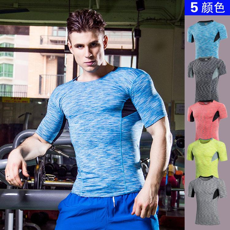 669aefc229be Compression Shirt Slim Fit Skins Tight Short Sleeve T-shirt Men's  Bodybuilding Crossfit Tops Gyms Fitness Muscle Tshirt S-3xl