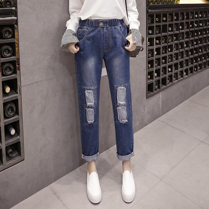 85a226b4090 Compre Gran Tamaño Grande De La Manera 5XL Moda Mujer Mujer Sexy Suelta  Recta Ripped Hole Denim Jeans Pantalones Patchwork Pantalones Ropa A $29.95  Del ...