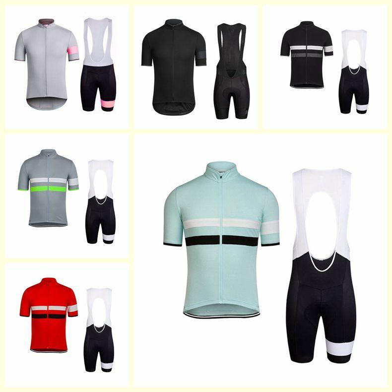 RAPHA team Cycling Short Sleeves jersey bib shorts sets Men 100% Polyester Quick-Dry Bike Sportswear Roupa Ciclismo U52222